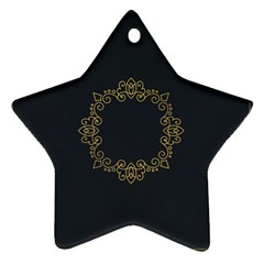 Monogram Vector Logo Round Star Ornament (two Sides)