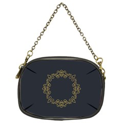 Monogram Vector Logo Round Chain Purses (Two Sides)