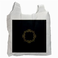 Monogram Vector Logo Round Recycle Bag (two Side)