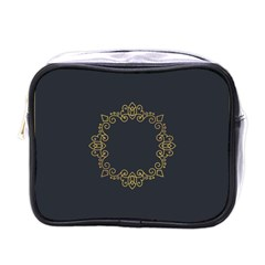 Monogram Vector Logo Round Mini Toiletries Bags