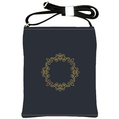 Monogram Vector Logo Round Shoulder Sling Bags