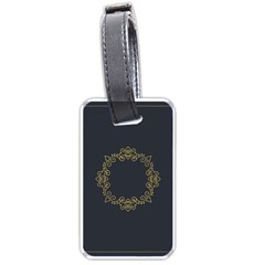 Monogram Vector Logo Round Luggage Tags (Two Sides)