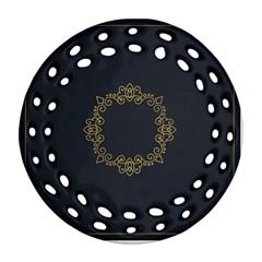 Monogram Vector Logo Round Ornament (Round Filigree)
