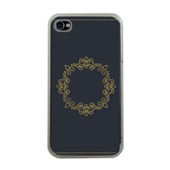 Monogram Vector Logo Round Apple Iphone 4 Case (clear)