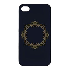 Monogram Vector Logo Round Apple Iphone 4/4s Hardshell Case