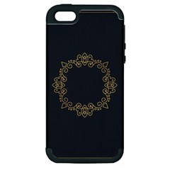 Monogram Vector Logo Round Apple Iphone 5 Hardshell Case (pc+silicone)