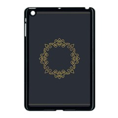 Monogram Vector Logo Round Apple Ipad Mini Case (black)