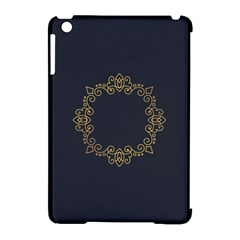 Monogram Vector Logo Round Apple Ipad Mini Hardshell Case (compatible With Smart Cover)