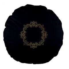 Monogram Vector Logo Round Large 18  Premium Round Cushions