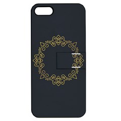Monogram Vector Logo Round Apple iPhone 5 Hardshell Case with Stand