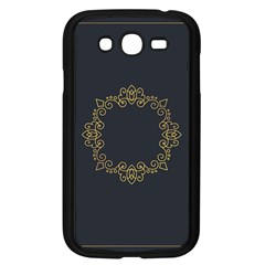 Monogram Vector Logo Round Samsung Galaxy Grand Duos I9082 Case (black)