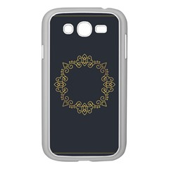 Monogram Vector Logo Round Samsung Galaxy Grand Duos I9082 Case (white)