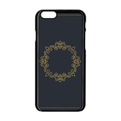 Monogram Vector Logo Round Apple Iphone 6/6s Black Enamel Case