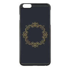 Monogram Vector Logo Round Apple Iphone 6 Plus/6s Plus Black Enamel Case