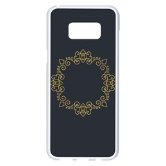 Monogram Vector Logo Round Samsung Galaxy S8 Plus White Seamless Case