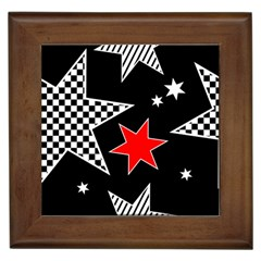 Stars Seamless Pattern Background Framed Tiles