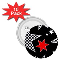 Stars Seamless Pattern Background 1 75  Buttons (10 Pack)