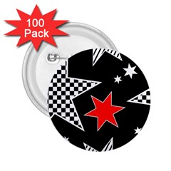 Stars Seamless Pattern Background 2.25  Buttons (100 pack)
