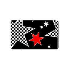 Stars Seamless Pattern Background Magnet (Name Card)