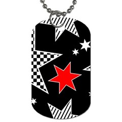 Stars Seamless Pattern Background Dog Tag (two Sides)