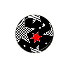 Stars Seamless Pattern Background Hat Clip Ball Marker (4 pack)