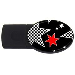 Stars Seamless Pattern Background USB Flash Drive Oval (4 GB)