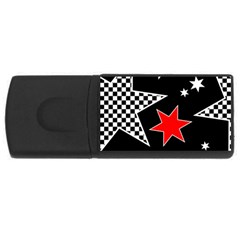 Stars Seamless Pattern Background USB Flash Drive Rectangular (4 GB)