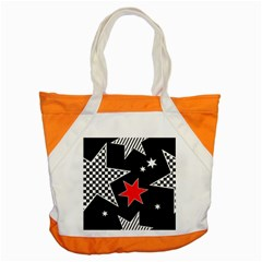 Stars Seamless Pattern Background Accent Tote Bag