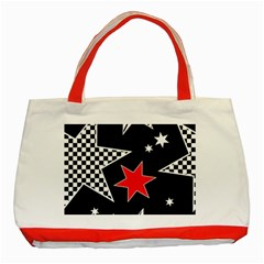 Stars Seamless Pattern Background Classic Tote Bag (red)