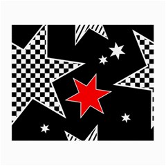 Stars Seamless Pattern Background Small Glasses Cloth (2 Side)