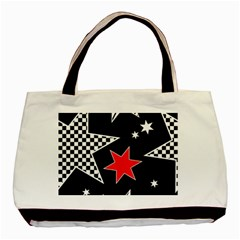 Stars Seamless Pattern Background Basic Tote Bag (two Sides)