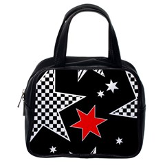 Stars Seamless Pattern Background Classic Handbags (One Side)