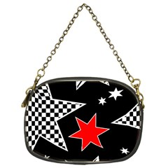Stars Seamless Pattern Background Chain Purses (one Side)