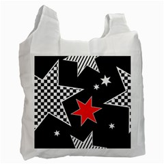 Stars Seamless Pattern Background Recycle Bag (one Side)
