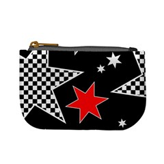 Stars Seamless Pattern Background Mini Coin Purses