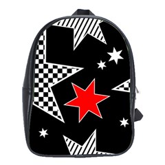 Stars Seamless Pattern Background School Bags(large)