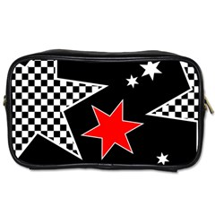 Stars Seamless Pattern Background Toiletries Bags 2 Side