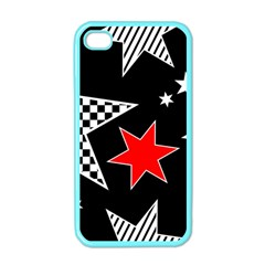Stars Seamless Pattern Background Apple Iphone 4 Case (color)