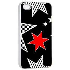Stars Seamless Pattern Background Apple iPhone 4/4s Seamless Case (White)