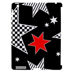 Stars Seamless Pattern Background Apple iPad 3/4 Hardshell Case (Compatible with Smart Cover)