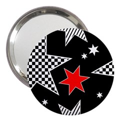 Stars Seamless Pattern Background 3  Handbag Mirrors
