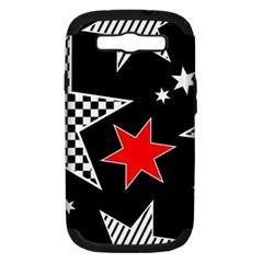 Stars Seamless Pattern Background Samsung Galaxy S III Hardshell Case (PC+Silicone)