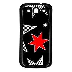 Stars Seamless Pattern Background Samsung Galaxy S3 Back Case (black)