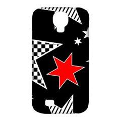 Stars Seamless Pattern Background Samsung Galaxy S4 Classic Hardshell Case (PC+Silicone)