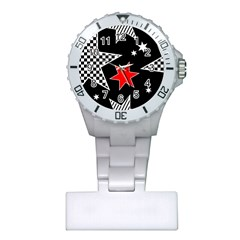 Stars Seamless Pattern Background Plastic Nurses Watch