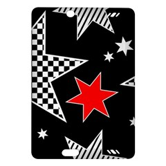 Stars Seamless Pattern Background Amazon Kindle Fire HD (2013) Hardshell Case