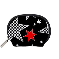 Stars Seamless Pattern Background Accessory Pouches (Small)