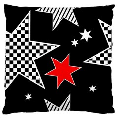 Stars Seamless Pattern Background Standard Flano Cushion Case (Two Sides)