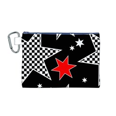 Stars Seamless Pattern Background Canvas Cosmetic Bag (m)