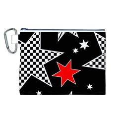 Stars Seamless Pattern Background Canvas Cosmetic Bag (L)